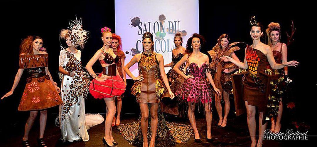 Salon du chocolat à lyon, Maquillage et coiffure Elodie Marcos