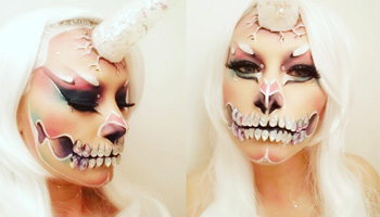 Maquillage événementiel halloween transformation
