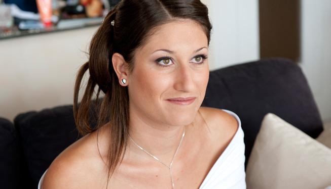 Coiffure mariage perles
