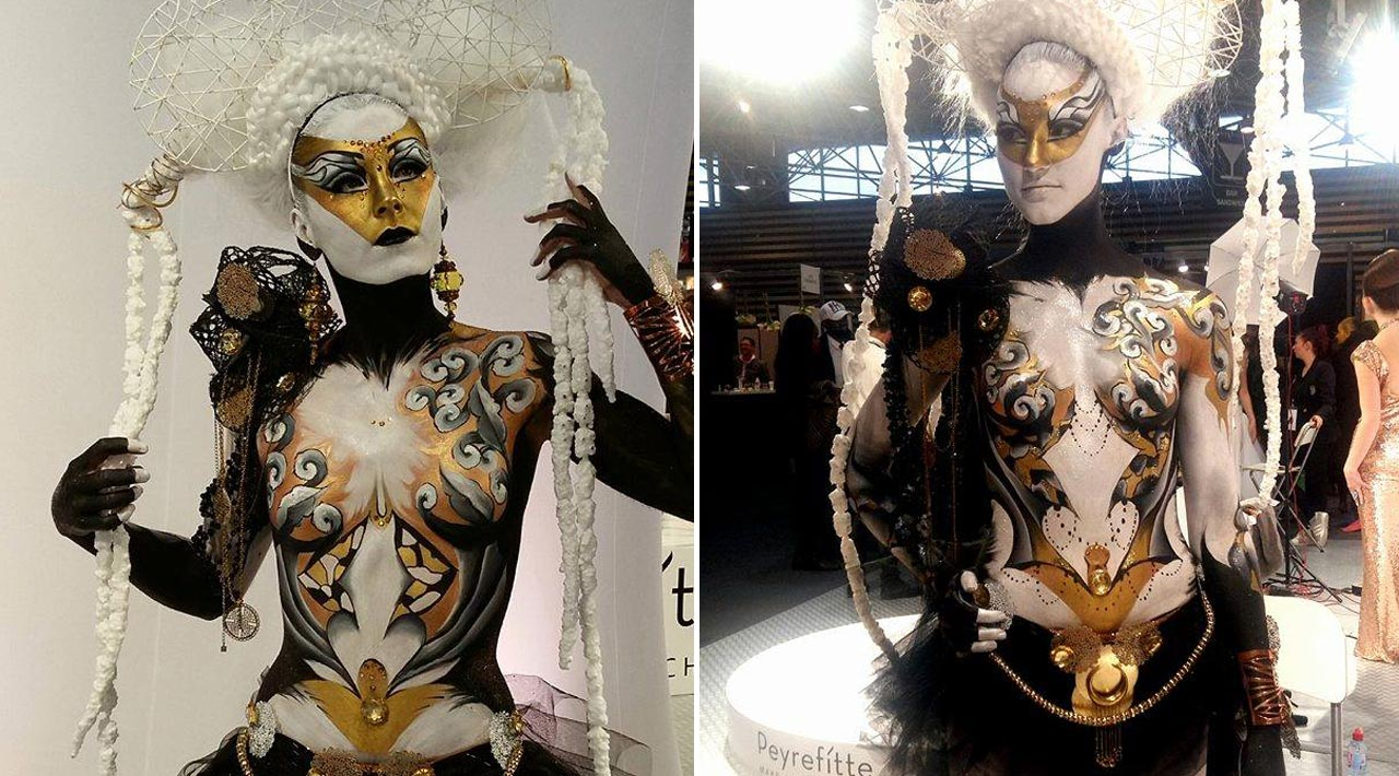 Maquilleuse body painting beauté selection lyon