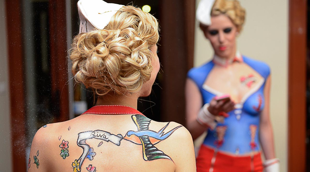 Maquilleuse pro lyon bodypainting