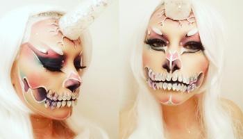 Maquillage événementiel halloween transformation