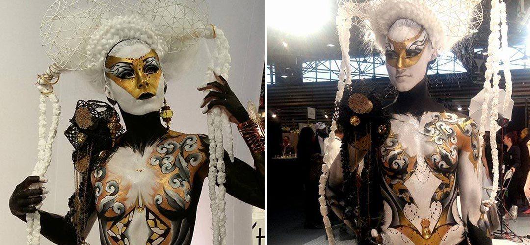 Body painting salon beauté sélection Elodie marcos
