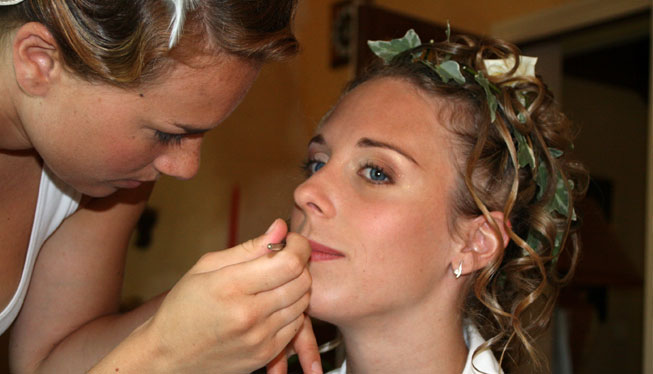 Maquillage subtile mariage Rhone Alpes