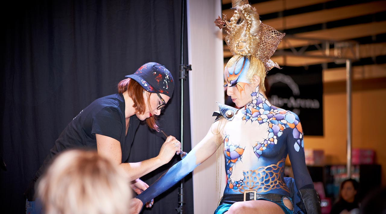 Maquilleuse body painting lyon