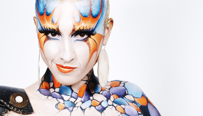 Maquilleuse coiffeuse body painting