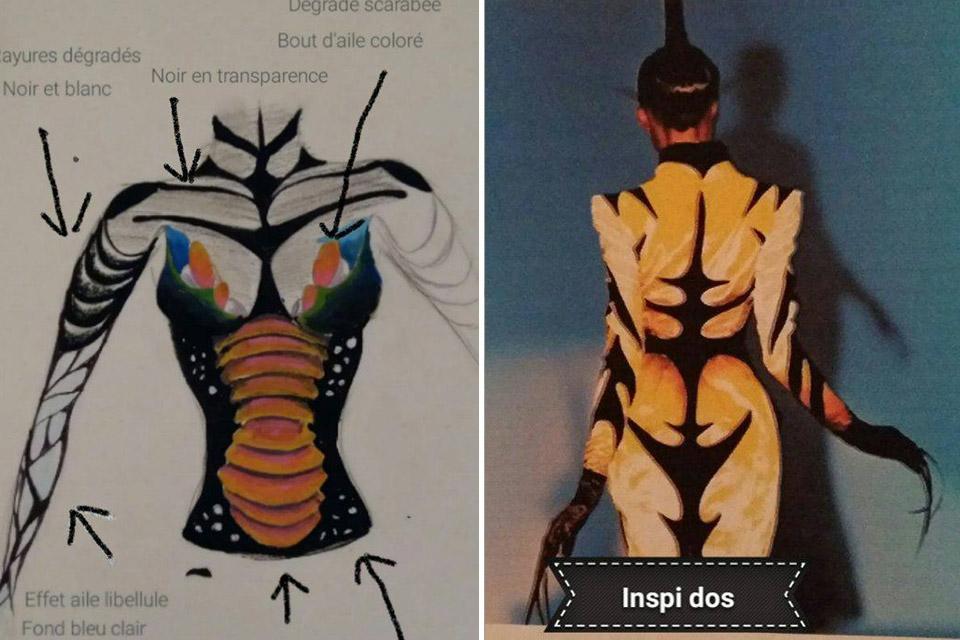 Recherches body painting lyon